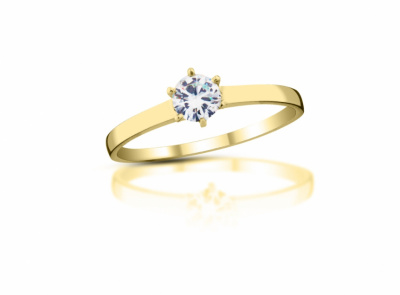 zlatý prsten s diamantem 0.24ct J/VVS2 s EGL certifikátem