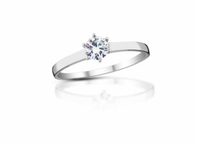 zlatý prsten s diamantem 0.25ct F/VVS1 s EGL certifikátem