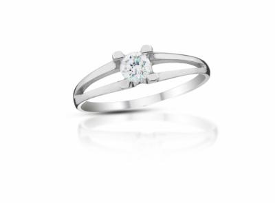 zlatý prsten s diamantem 0.25ct F/VVS2 s EGL certifikátem