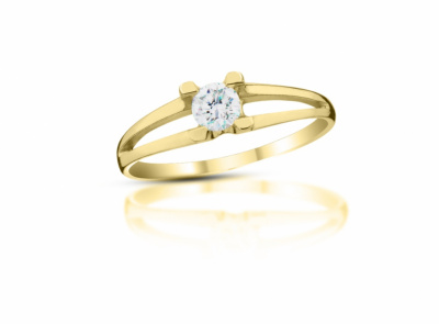 zlatý prsten s diamantem 0.27ct Very Light Yellow/VVS2 s EGL certifikátem