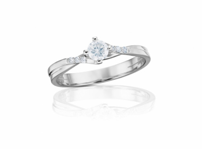 zlatý prsten s diamantem 0.297ct J/VVS1 s IGI certifikátem