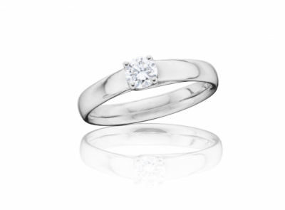zlatý prsten s diamantem 0.307ct G/IF s IGI certifikátem