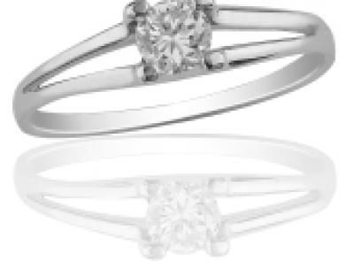 zlatý prsten s diamantem 0.30ct E/SI1 s EGL certifikátem