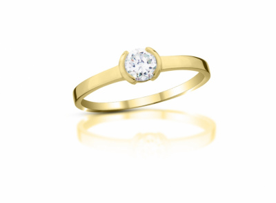 zlatý prsten s diamantem 0.30ct F/SI1 s EGL certifikátem