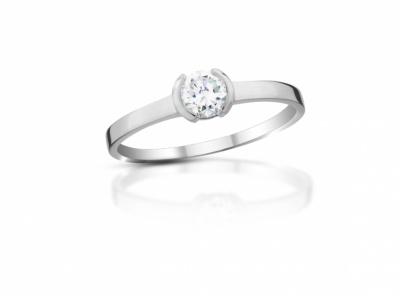 zlatý prsten s diamantem 0.30ct G/SI2 s EGL certifikátem