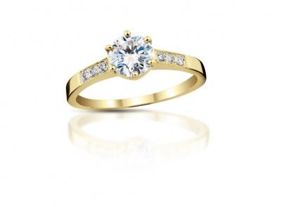 zlatý prsten s diamantem 0.30ct I/VVS2 s HRD certifikátem