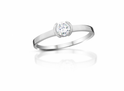 zlatý prsten s diamantem 0.30ct O/IF s EGL certifikátem