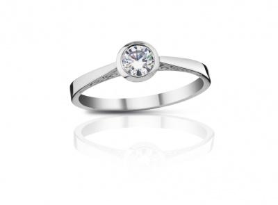 zlatý prsten s diamantem 0.313ct I/SI1 s IGI certifikátem