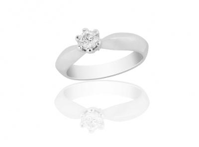 zlatý prsten s diamantem 0.315ct J/VS2 s EGL certifikátem
