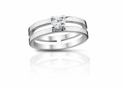 zlatý prsten s diamantem 0.31ct E/SI2 s HRD certifikátem