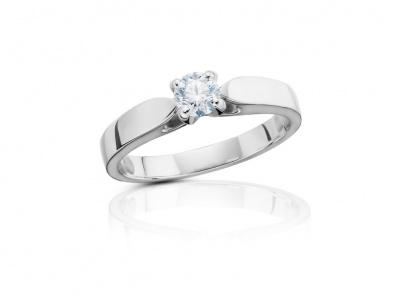 zlatý prsten s diamantem 0.31ct F/SI1 s IGI certifikátem