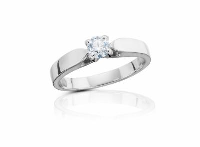 zlatý prsten s diamantem 0.32ct F/VVS1 s GIA certifikátem