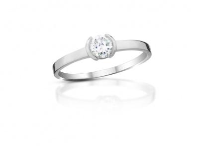 zlatý prsten s diamantem 0.33ct D/VVS2 s EGL certifikátem