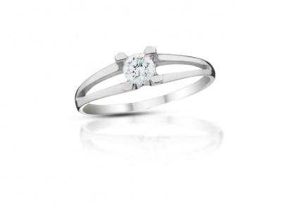 zlatý prsten s diamantem 0.33ct G/SI2 s EGL certifikátem