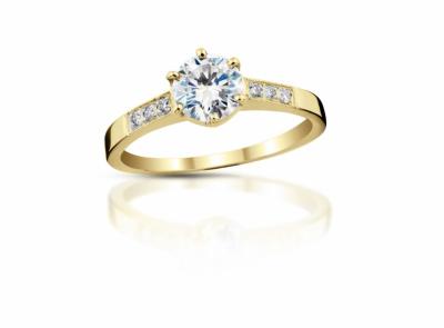 zlatý prsten s diamantem 0.33ct H/VS1 s GIA certifikátem
