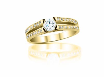 zlatý prsten s diamantem 0.33ct J/VS1 s GIA certifikátem