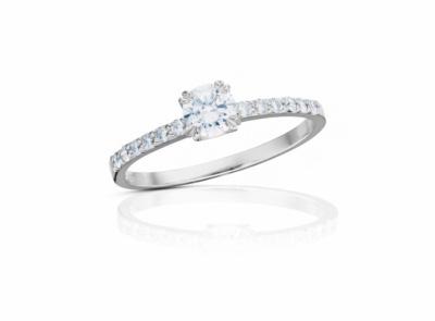 zlatý prsten s diamantem 0.34ct D/VS1 s HRD certifikátem