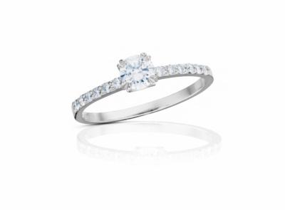 zlatý prsten s diamantem 0.34ct E/VS1 s GIA certifikátem