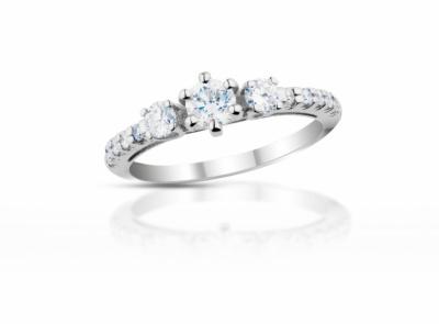 zlatý prsten s diamantem 0.34ct E/VS2 s IIDGR certifikátem
