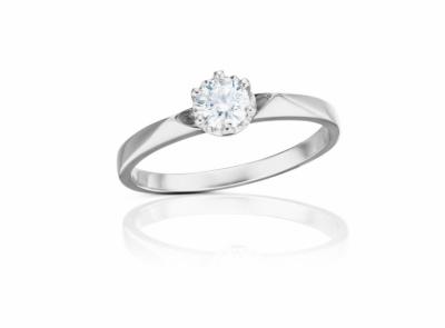zlatý prsten s diamantem 0.34ct F/VS1 s GIA certifikátem