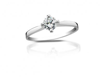zlatý prsten s diamantem 0.34ct H/VVS1 s EGL certifikátem