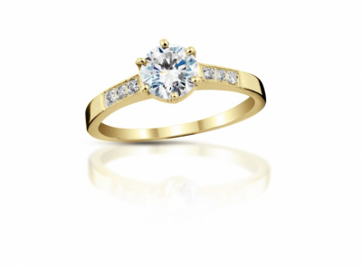 zlatý prsten s diamantem 0.34ct I/VVS2 s IGI certifikátem