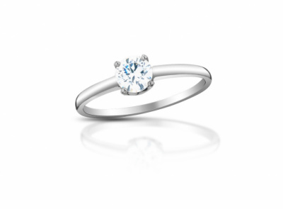 zlatý prsten s diamantem 0.34ct K/SI1 s GIA certifikátem