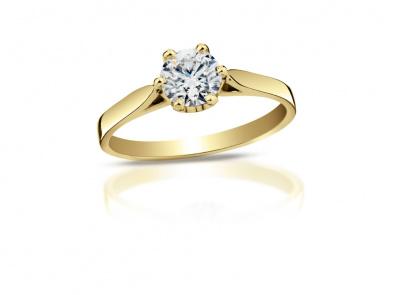 zlatý prsten s diamantem 0.34ct K/VS1 s GIA certifikátem