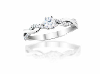 zlatý prsten s diamantem 0.35ct E/VVS2 s HRD certifikátem