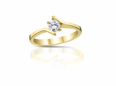 zlatý prsten s diamantem 0.35ct H/VVS2 s GIA certifikátem