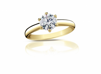 zlatý prsten s diamantem 0.35ct J/SI1 s GIA certifikátem