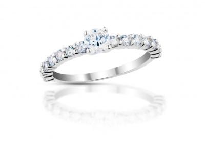 zlatý prsten s diamantem 0.36ct D/VS1 s HRD certifikátem
