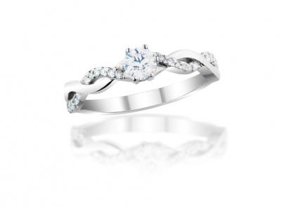 zlatý prsten s diamantem 0.36ct D/VS2 s GIA certifikátem