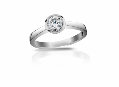 zlatý prsten s diamantem 0.387ct F/VS2 s IGI certifikátem