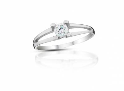 zlatý prsten s diamantem 0.39ct E/SI2 s EGL certifikátem
