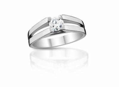 zlatý prsten s diamantem 0.40ct E/VS1 s GIA certifikátem