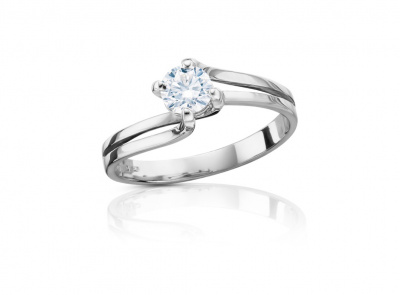 zlatý prsten s diamantem 0.40ct F/SI1 s IGI certifikátem