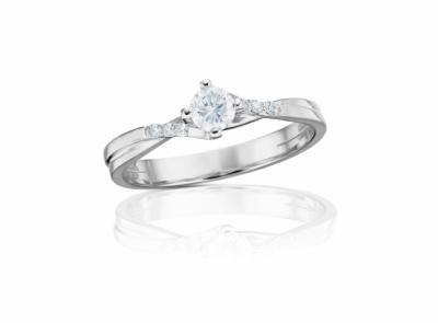 zlatý prsten s diamantem 0.40ct F/SI2 s GIA certifikátem