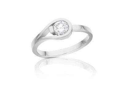 zlatý prsten s diamantem 0.40ct G/VS1 s IIDGR certifikátem