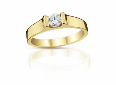 zlatý prsten s diamantem 0.40ct H/VVS1 s GIA certifikátem