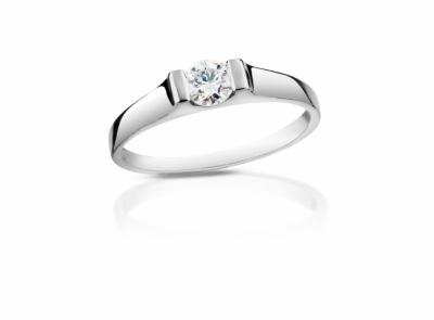 zlatý prsten s diamantem 0.41ct D/VVS2 s GIA certifikátem