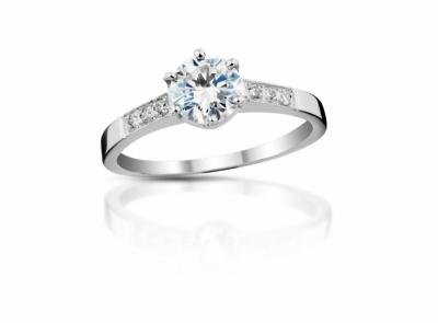 zlatý prsten s diamantem 0.41ct E/SI1 s IGI certifikátem