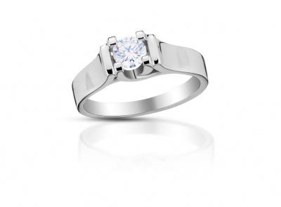 zlatý prsten s diamantem 0.423ct G/SI1 s IGI certifikátem