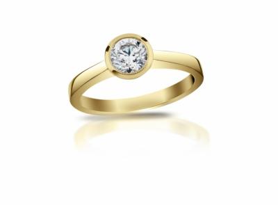 zlatý prsten s diamantem 0.425ct H/SI2 s IGI certifikátem
