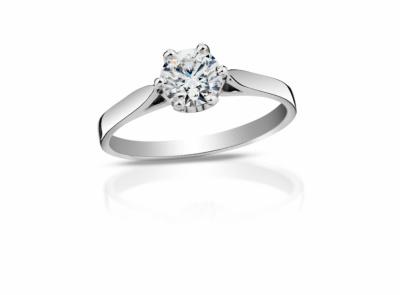 zlatý prsten s diamantem 0.42ct D/SI1 s IGI certifikátem