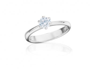 zlatý prsten s diamantem 0.50ct D/VS1 s IGI certifikátem
