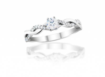 zlatý prsten s diamantem 0.50ct D/VS2 s GIA certifikátem