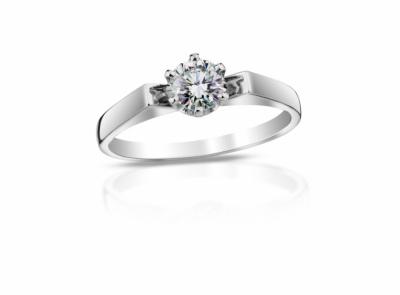 zlatý prsten s diamantem 0.50ct F/SI1 s IGI certifikátem