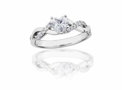 zlatý prsten s diamantem 0.51ct E/VS1 s GIA certifikátem