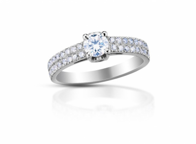 zlatý prsten s diamantem 0.53ct D/SI1 s GIA certifikátem